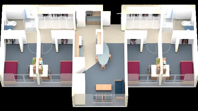 4 Person Suite Floor Plan
