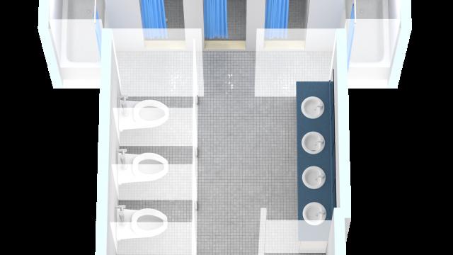 Communal Washroom Floor Plan