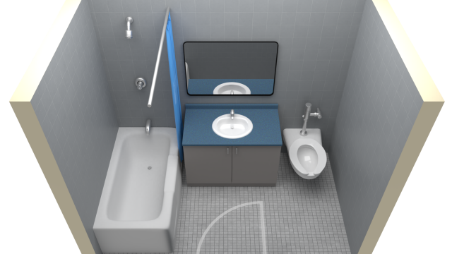 Single Access Washroom Floor Plan