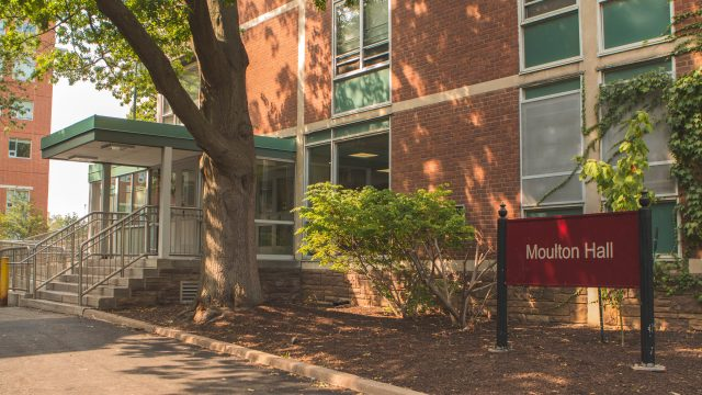 Moulton Hall is located in west quad at McMaster University