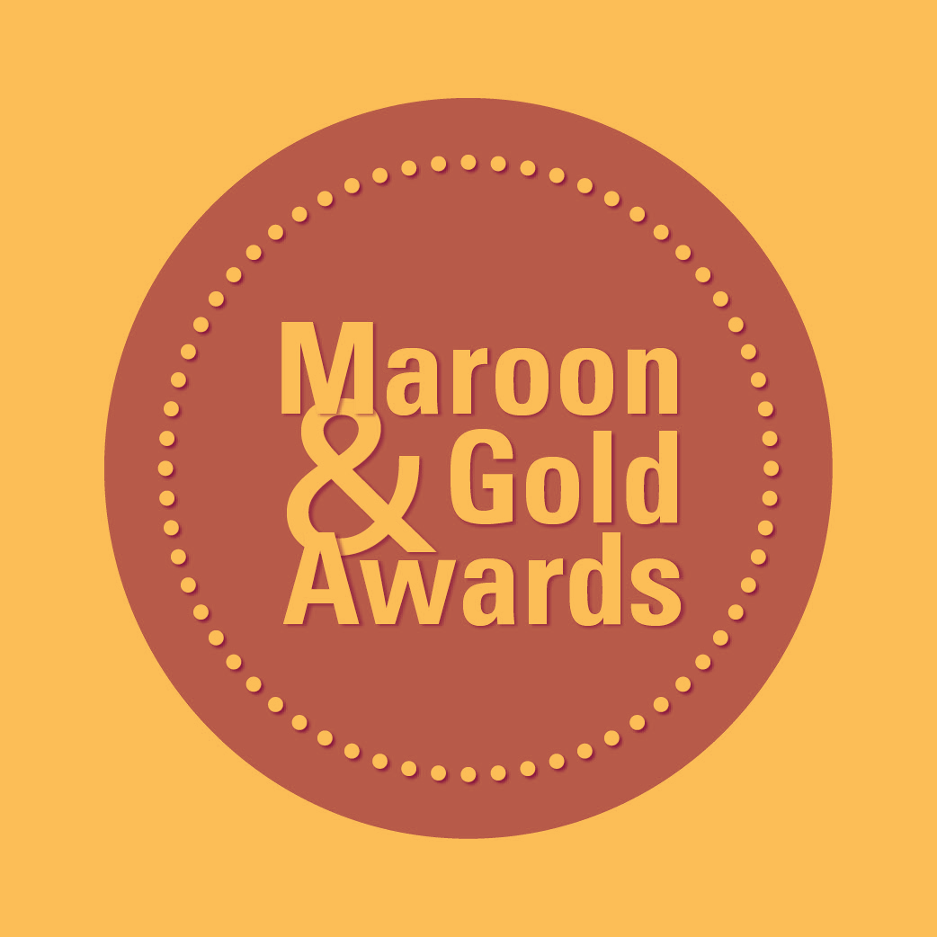 Maroon & Gold Awards Logo in Duotone