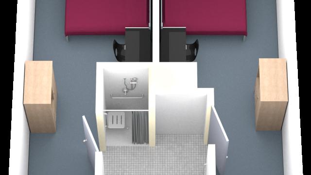 Super Single with Shared Washroom Floorplan