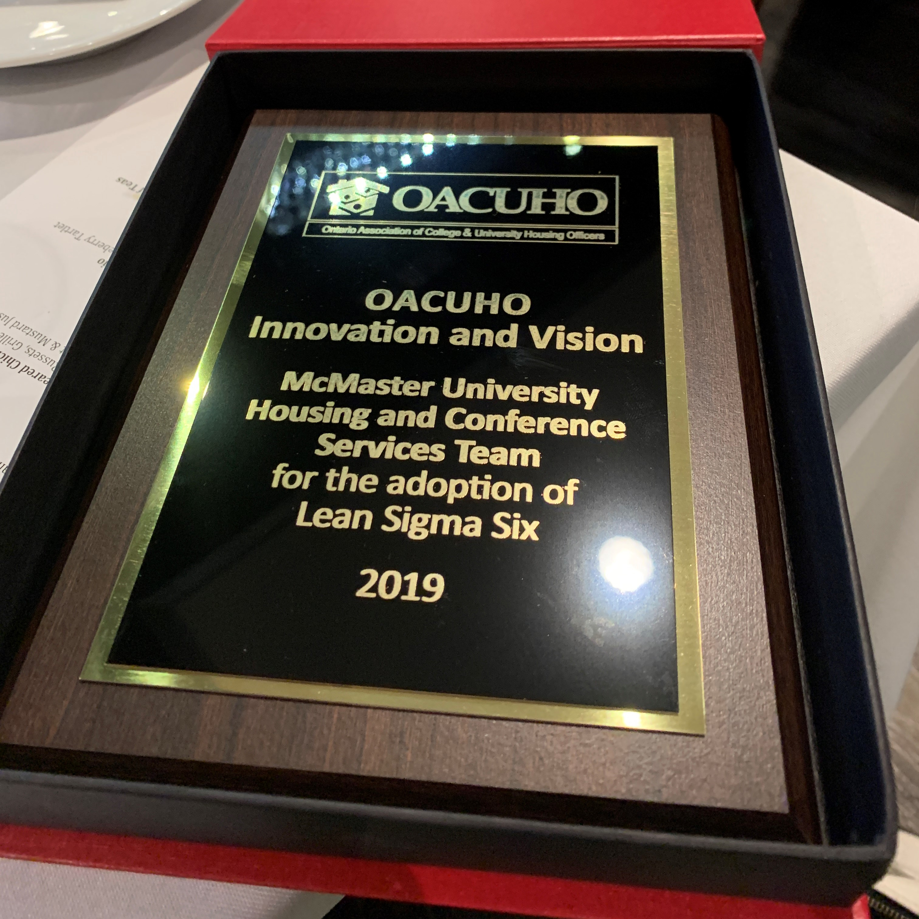 OACUHO Innovation and Vision award