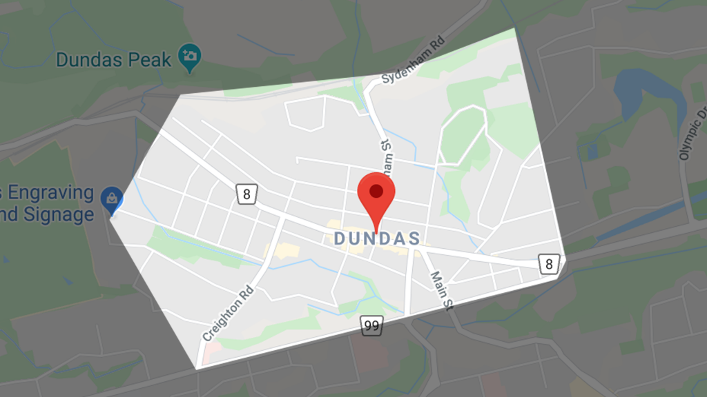 map of dundas