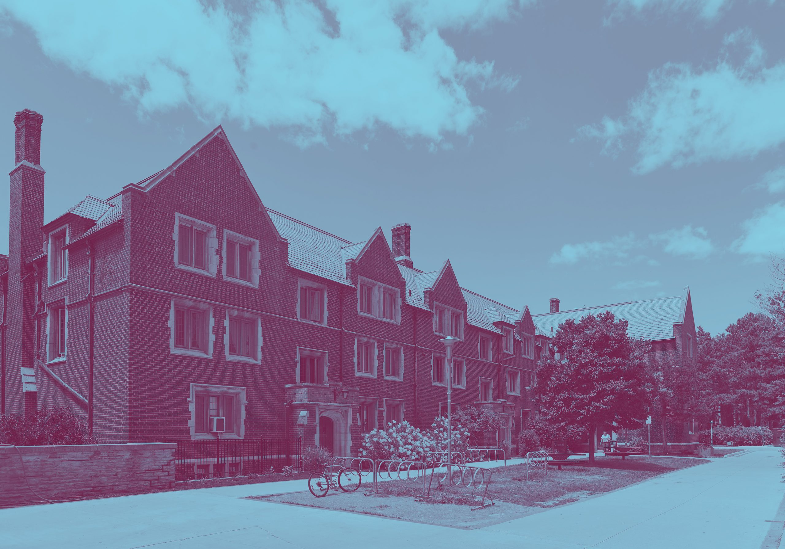 Front exterior of Edwards Hall residences