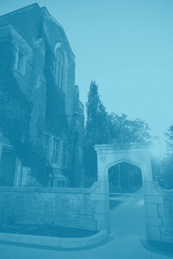 Edward's arch with blue duotone overlay