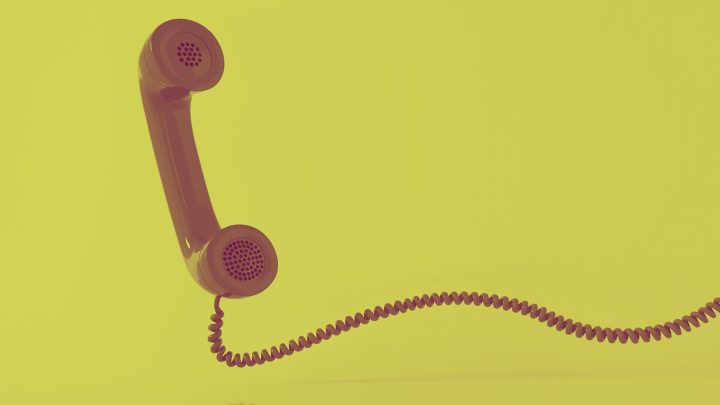 telephone with wire in duotone