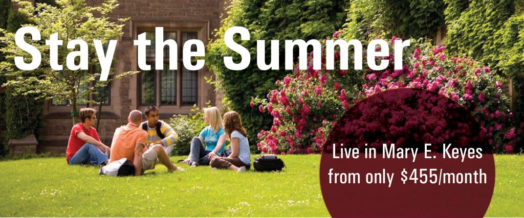 Stay the Summer at McMaster with affordable residence accommodations