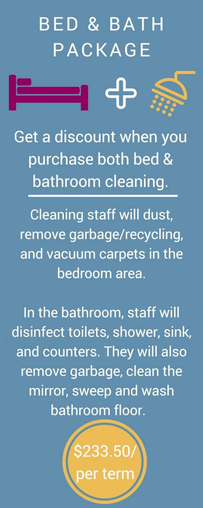 Bed and Bathroom Cleaning